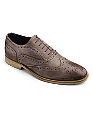 Hamnett Gold Lace Up Brogue Shoes Wide