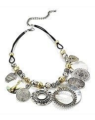 Petal Dolls Silver Disk Necklace