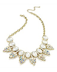 Petal Dolls White Crystal Necklace