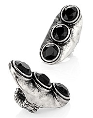 Petal Dolls Black Trio Ring