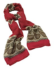 Petal Dolls Red Print Scarf