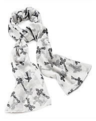 Petal Dolls White Cross Scarf