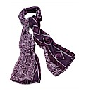 Petal Dolls Purple Print Scarf
