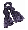 Petal Dolls Purple Satin Scarf