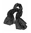 Petal Dolls Black Satin Scarf