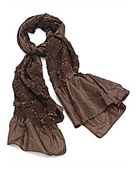 Petal Dolls Brown Satin Scarf