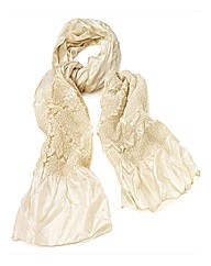 Petal Dolls Cream Satin Scarf