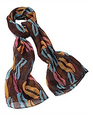 Petal Dolls Brown Kiss Scarf