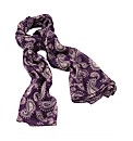 Petal Dolls Purple Paisley Scarf