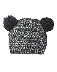 Double Pom Pom Chunky Knit Hat