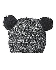 Double Pom Pom Chunky Knit Hat