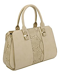 Malissa J Snake Panel Day Bag