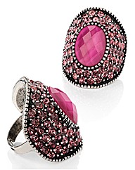 Petal Dolls Fuchsia Crystal Ring