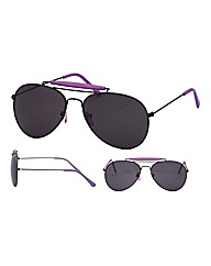 Viva La Diva Retro Purple Aviator