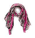 Paisley Print Scarf with Neon Trim