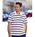 Mitre Striped Polo Reg