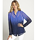 Ombre Blouse with Camisole