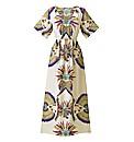 Print Kaftan Maxi Dress