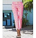 Print Slim Leg Trousers