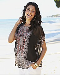 Printed Blouse with Cami
