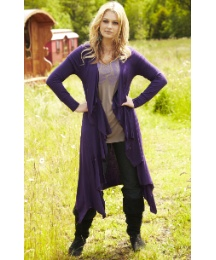 Maxi Jersey Waterfall Shrug Cardigan