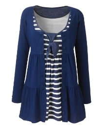 Versatile Tiered Jersey Cardigan