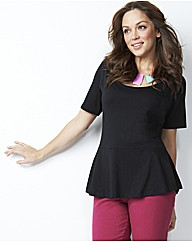 Peplum Jersey Top Longer Length