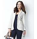 Petite Spot Print Jersey Blazer