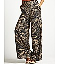 Petite Print Palazzo Trousers