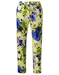 Cropped Floral Print Trousers