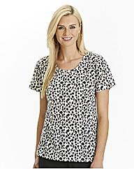 Leopard Print Jersey T Shirt