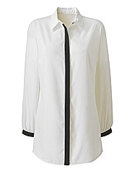 Monochrome Contrast Detail Shirt