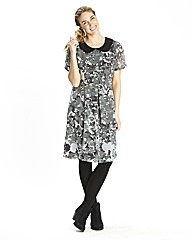 Camo Floral Peter Pan Collar Dress