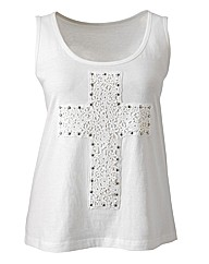 Crochet Cross Jersey Top