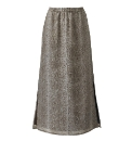 Animal Print Column Skirt