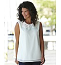 Peterpan Collar Sleeveless Blouse