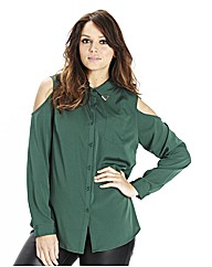 Cut Out Sleeve Shirt