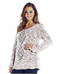 Chunky Knit Jumper With Pointelle Detail