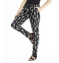 Cheetah Print Trousers with Tapered Leg