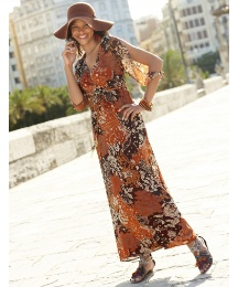 Multi Print Maxi Dress