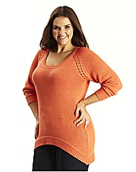 Bright Knit Jumper with Dipped Back Hem