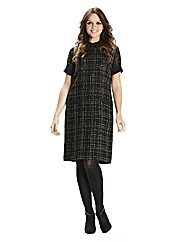 Boucle Check Shift Dress