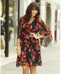 Print Kimono Tunic Dress & Camisole
