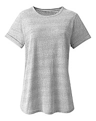 Boyfriend Neppy Flecked Jersey T Shirt