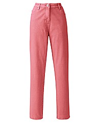 Coral Coloured Skinny Jeans Length 30in