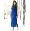 Colour Block Side Split Maxi Dress