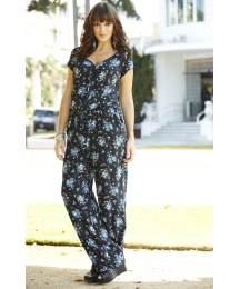 Petite Print Jumpsuit