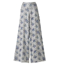 Tall Print Palazzo Trousers Length 34in
