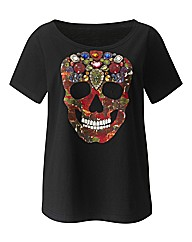 Embellished Skull T Shirt