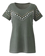 Jewel Trim Jersey Top